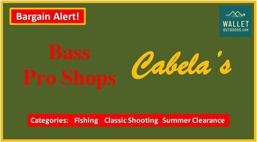 Cabelas and Bass Pro Shops Flash 2 Day Sale